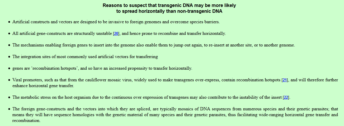 HGT Transgenic DNA Chemtrails und Horizontaler Gentransfer