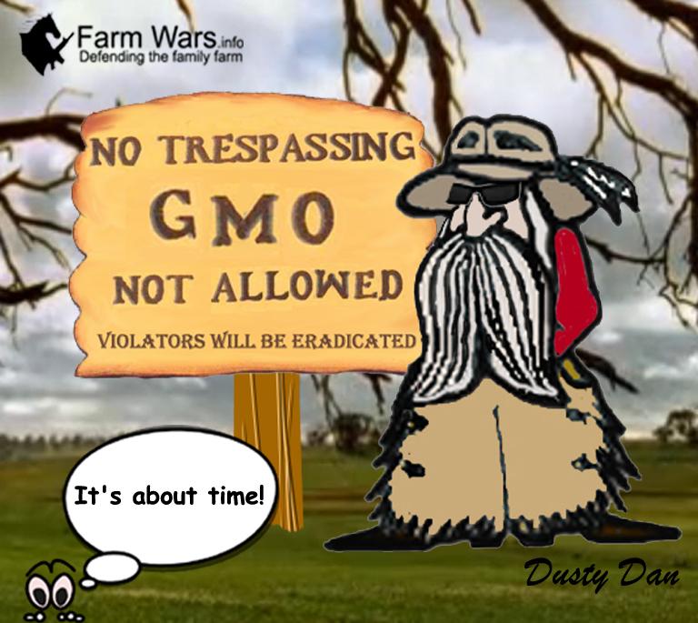 No trespassing GMO